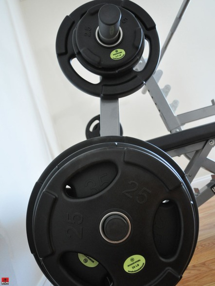 Hudson Steel Co. Urethane Plates on Squat Stand