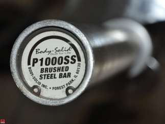 Body-Solid Olympic Bar end detail