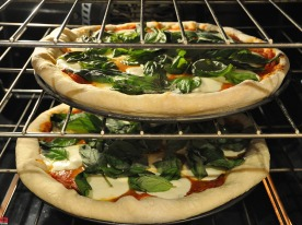 Baking Margherita Pizza