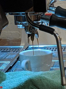 Pulling Espresso on LaMarzocco Linea at Counter Culture Coffee