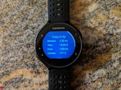 Waveny trail run 30 Dec 2018 on Garmin 235
