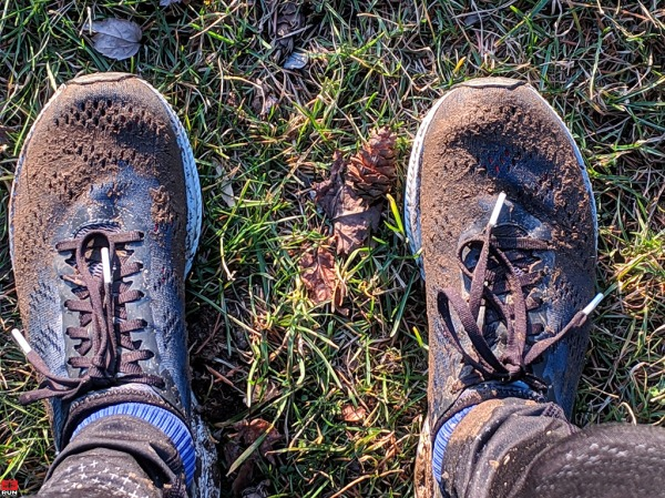 Muddy Shoes after Christmas Run 2018