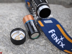 Fenix HL50 Headlamp - Battery Compartment Open