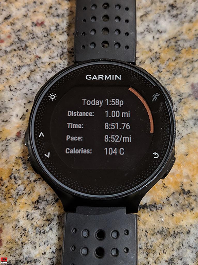 Mile Run after Hernia Surgery on Garmin 235