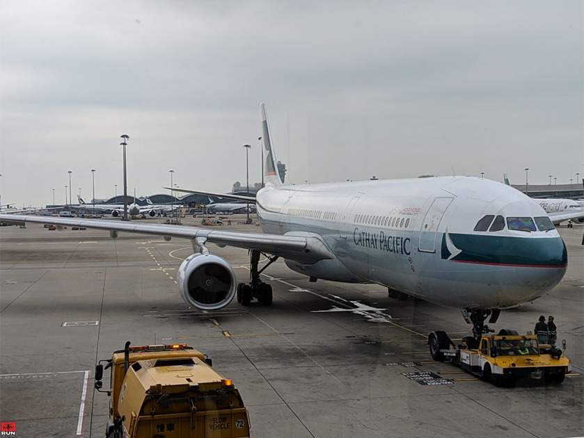 Cathay Pacific flight New York - Hong Kong - Beijing, China in January 2019