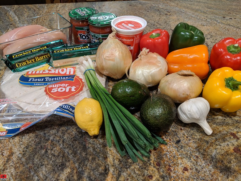 Main ingredients for Chicken Fajitas