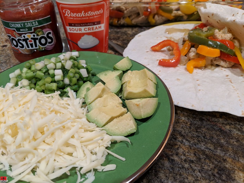 Additional fillings and condiments for Chicken Fajitas