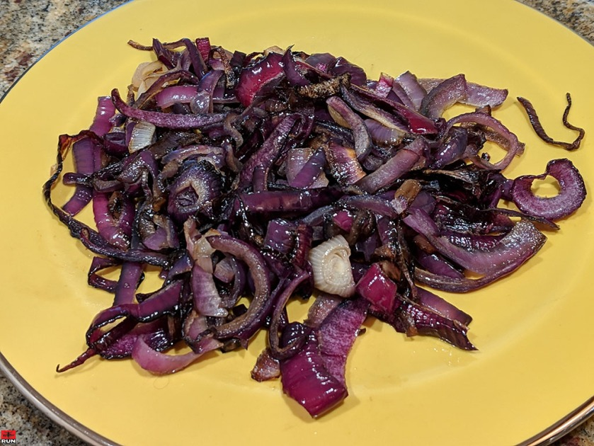 Focaccia Bread - caramelized red onion