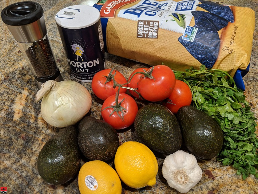 Ingredients for Guacamole Dip