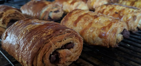 Warm and Flaky Chocolate Croissants