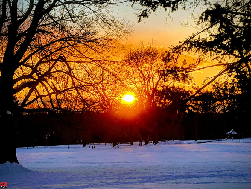 Sunset in Waveny Park on March 6, 2019