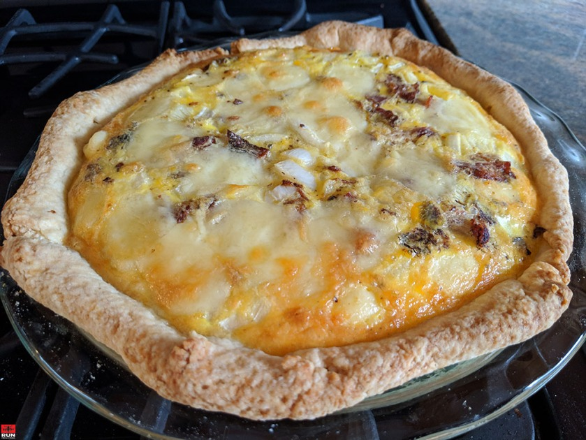 Quiche Lorraine fresh from the oven