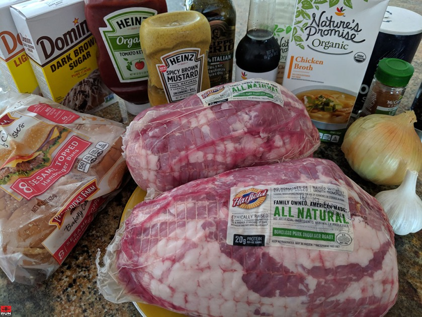 Ingredients for Slow Cooker Texas Pulled Pork