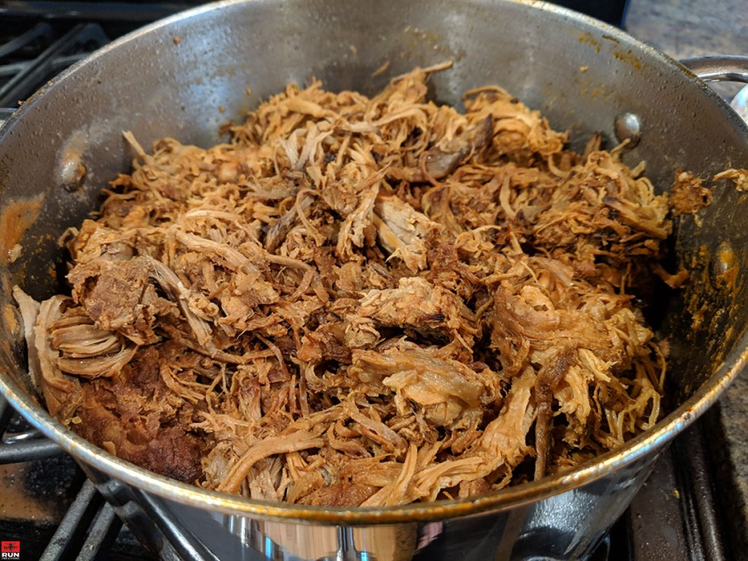 Almost finished Pulled Pork after a few hours of slow cooking