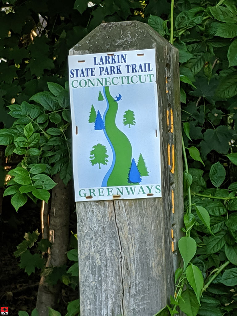 Trail Sign on Larkin State Park Trail