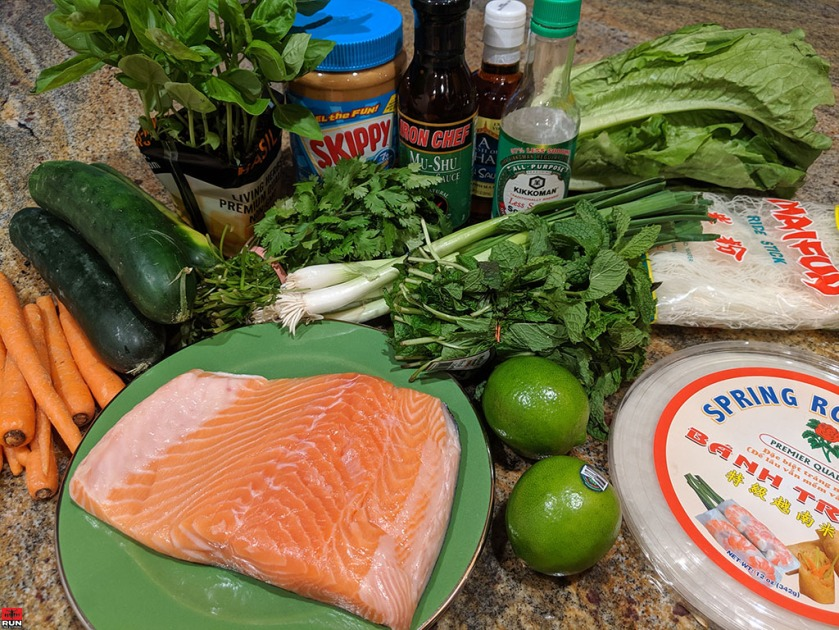 Ingredients for Vietnamese Summer Rolls