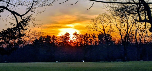 Waveny Park, New Canaan, Sunset in December 2019