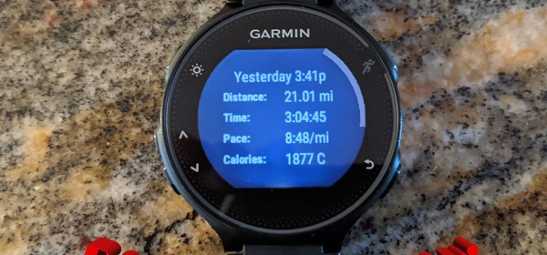 21 mile longrun on April 25, 2020 in Larkin State Park