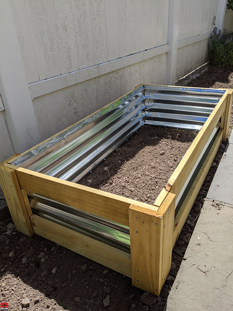 Garden Transformation finished raised bed box